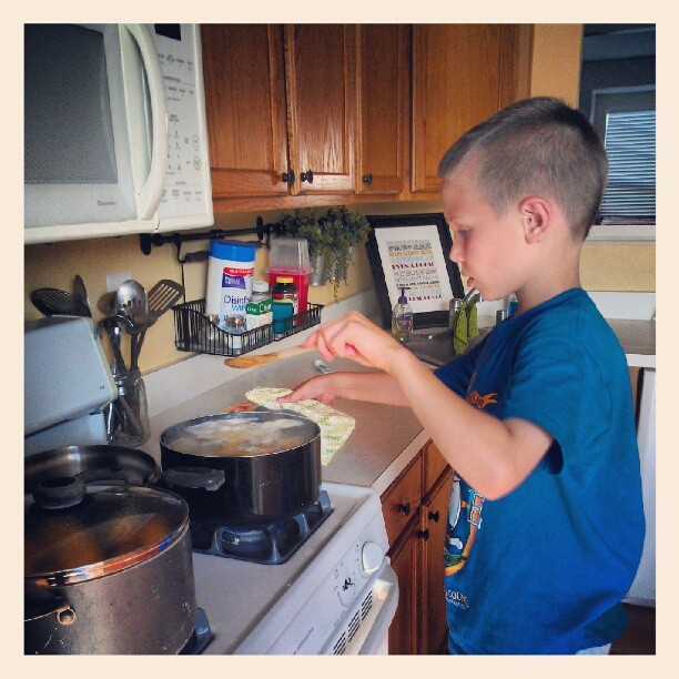 Dinner helper!  (Taken with Instagram)