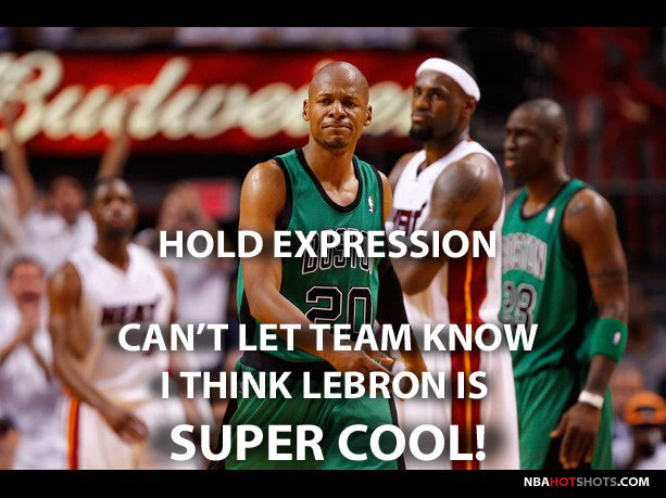 LeBron James Is Even Cool To Ray Allen