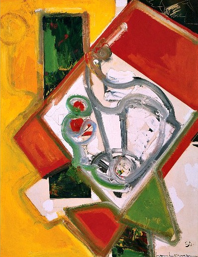 stilllifequickheart:  Hans Hofmann Fruit Bowl, Version 6 1950