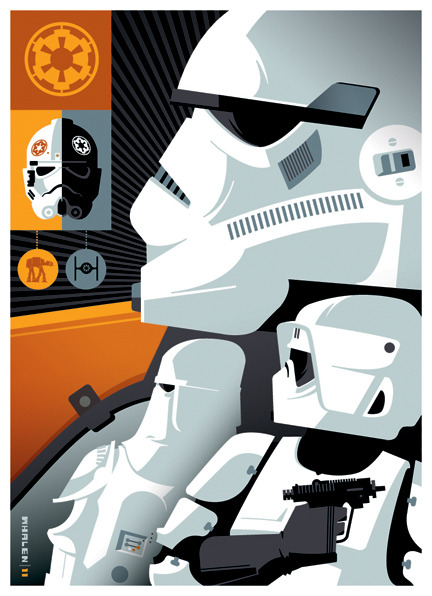 tiefighters:  Topps: Stormtroopers Created by Tom Whalen