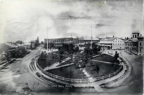 jurassicgun:  city hall park in burlington, vermont 1859