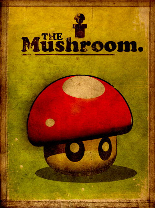 it8bit:  Super Vintage Mushroom Created by Paul Fellows