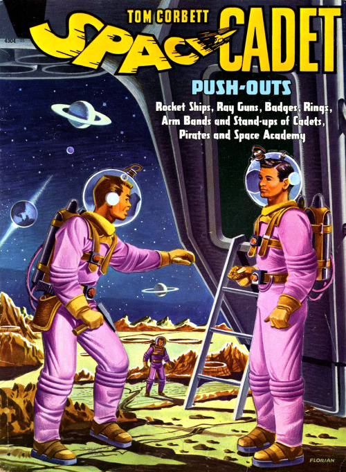 Tom Corbett Space Cadet activity book (1950s)