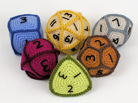 Awesome crochet dice! Pattern: http://www.planetjune.com/blog/crocheted-gaming-dice-pattern/