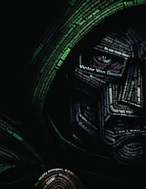 conbz:  Doctor Doom typography