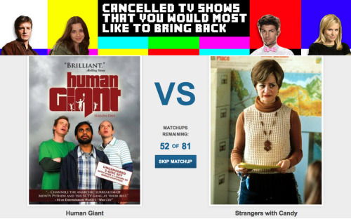 "Vote now for the ""Cancelled TV Shows That You Would Most Like To Bring Back"""