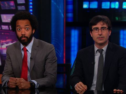 irrationalliberal:  I love these guys.  They're on the Daily Show and that's Wyatt Cenac and John Oliver.  Hilarious.