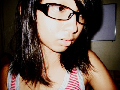 Because I miss wearing glasses. I don't care if I look… messed up? HAHAHHAHA