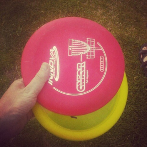 Just played nine holes of #discgolf only four over par. (Taken with Instagram)