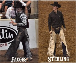 Jacobs & Sterling Crawley. Bronc-riding brothers.