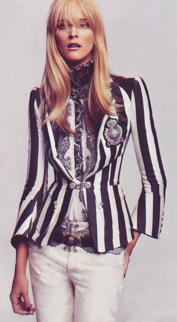 Its Only Rock 'n Roll | Vogue February 2006 Carmen Kass by Craig McDeanBalenciaga | Spring 2006 RTW