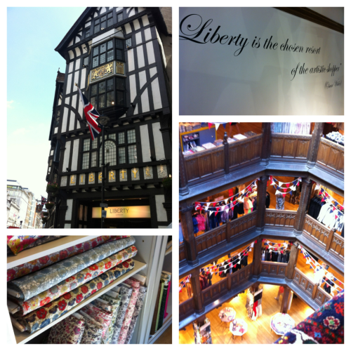 For my BL&B presentation, I visited the Liberty Store and was blown away by how instantly I fell in love with it. I can best equate it to a mix of Harrod's and Anthropologie, and it is marvelous! There are floors and floors of scarves, clothing, fabric, shoes, and anything else a girl could want.  I went after my interview at blur Group to celebrate a job well done, and, though I did not let myself splurge on a needlepoint pillow there, I did end up getting a leotard at American Apparel (finally) and a McFlurry at McDonald's (also finally). Best stress relief for this chaotic week of exams, papers and presentations that I could have asked for.  #readyforbarcelona #sunandsandplease