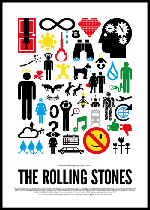 Cool rock posters by Viktor Hertz