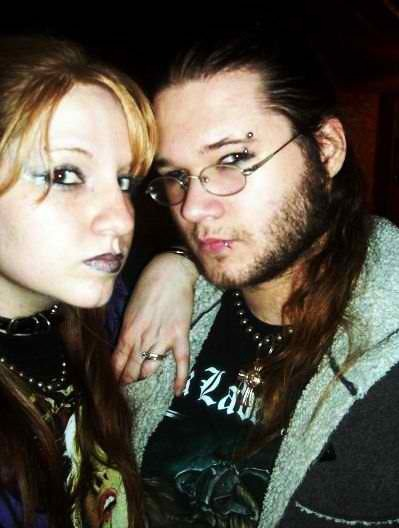 Evan and me 4 years ago, we saw Otep in concert that day. :)  I'm 2 sizes bigger today. But, I have been doing fairly well with keeping active the past week or so and more clothes are fitting better.   Also, I have gotten some sun and I have more freckles than I did a week ago. Lol.  Things have been really good lately. :)