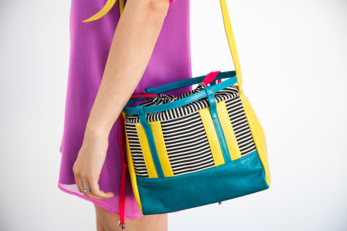 The Joanie Mini Bag from Thomas IV x Of A Kind is perfect in every way: Size, shape, color and pattern. We've found the ultimate summer bag.