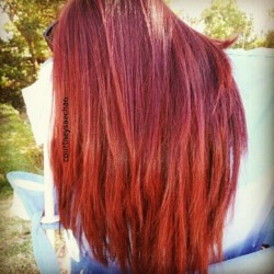Love my hair!! #redhair #redhead  (Taken with Instagram)