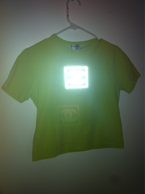 yard666sale:  90S REFLECTIVE CHANEL T SHIRT