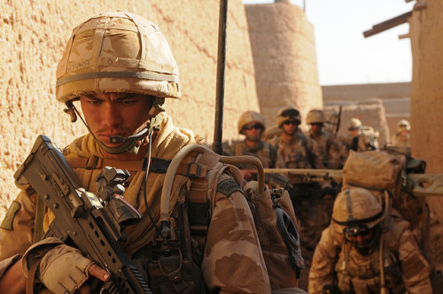 British Royal Marines from 42 Commando during operation Sond Chara, Afghanistan, January 17 2010.