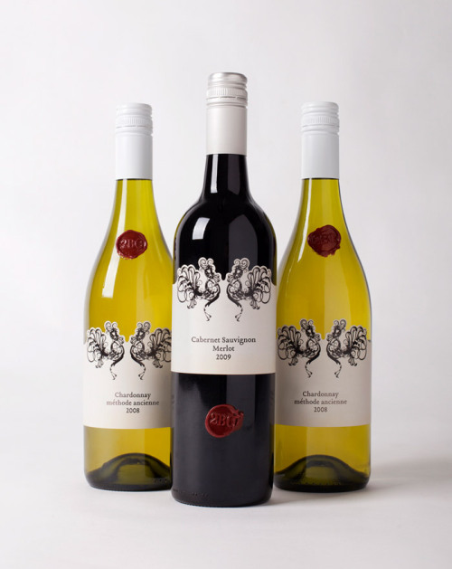 (via 2BC Wine Labels - The Dieline - The #1 Package Design Website -)