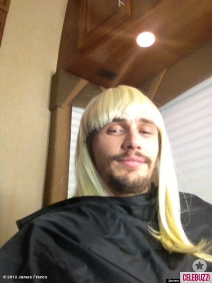 James Franco dons a new hairdo: gorgeous blond locks…