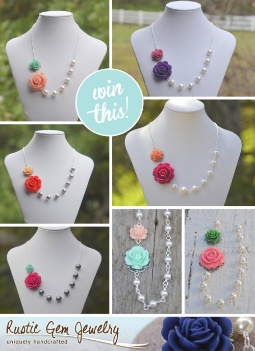 Win a gorgeous custom necklace from Rustic Gem Jewelry!! Click to enter: http://bit.ly/NV45lZ Good luck!