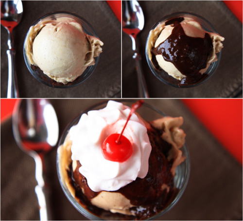 200 calorie hot fudge brownie sundae