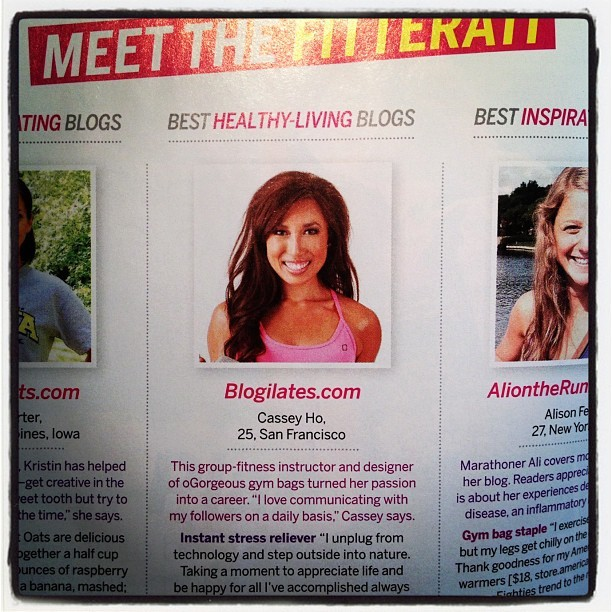 Omg!!!! We (yes we) are in @fitnessmagazine!! Congrats POPsters! You made it happen! I love you :) #popsterpower (Taken with Instagram)