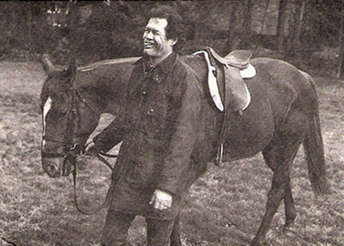 There are not nearly enough Micky with Horses photos.