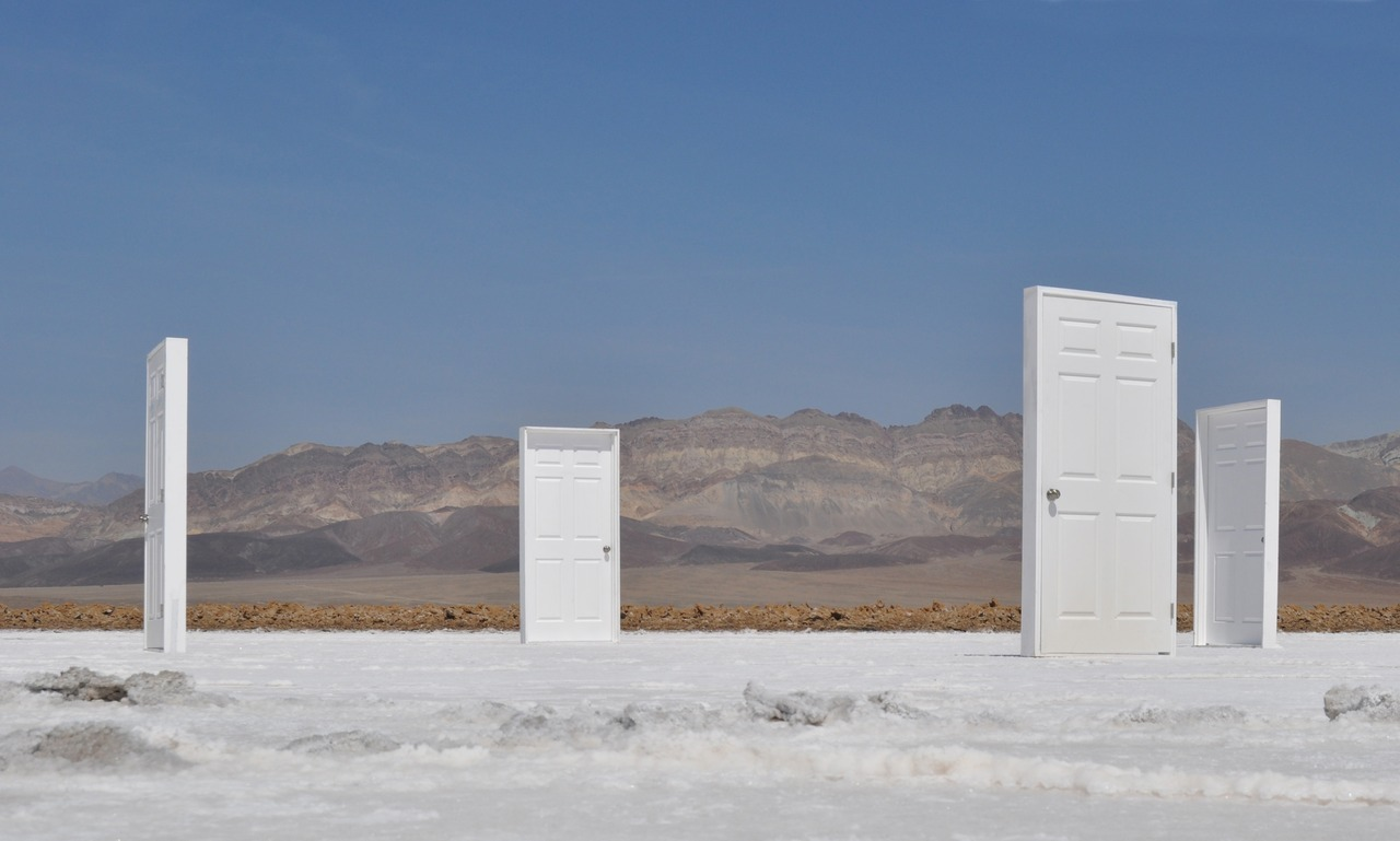 Brian Biedul, Threshold, prehung doors, 12ft x 12ft x 12ft, in Death Valley