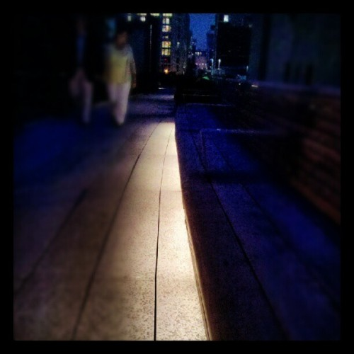 #nyc #highline #walkway #lights (Taken with Instagram)