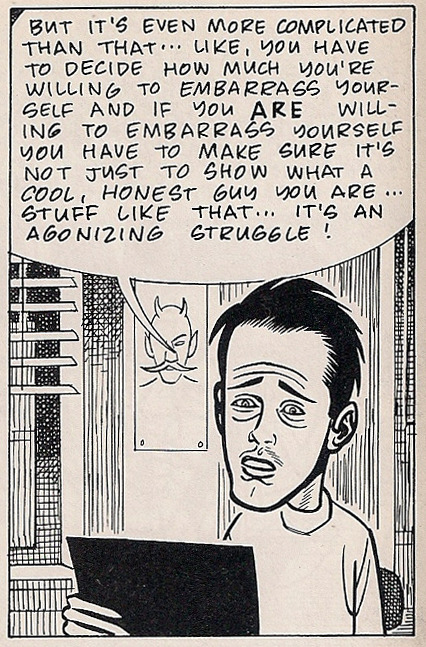 "elamigolucho:  Detalle de ""Just Another Day…"" de Dan Clowes. Publicada en Eightball 5."