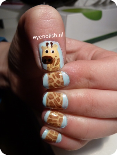 Giraffe Nail Art | Beautylish