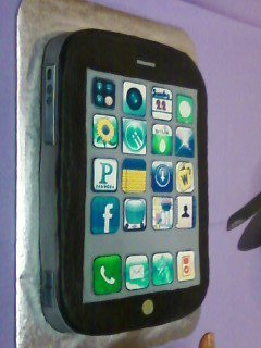 The Grooms Cake - Iphone Cake