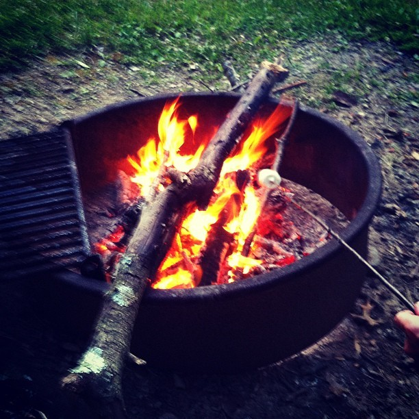Camp fire noms (Taken with Instagram)