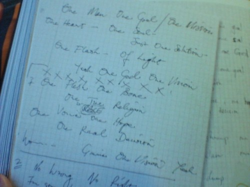 redbananatree:  I wonder if this was the same paper Freddie scribbled upon during the Making Of One Vision video. :3 Silly Freddie, writing on graph paper
