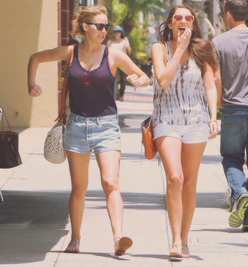 Jennifer out with a friend in Santa Monica, June 20th