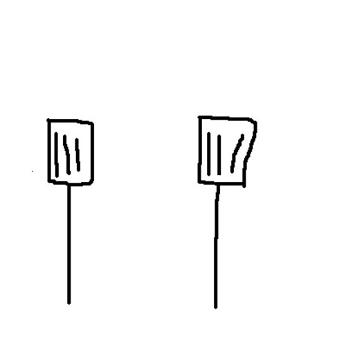 spatulas:  spatulas who have been drifting apart