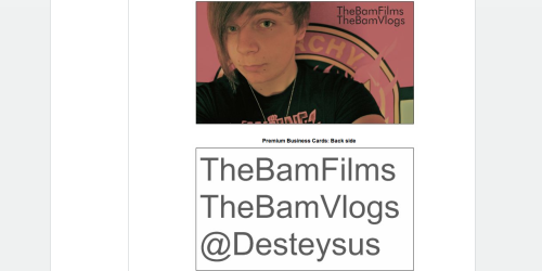 Boom, Vidcon/Playlist business cards