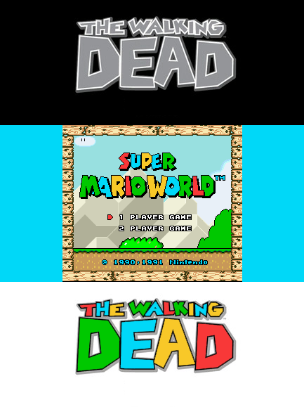 Separated At Birth: 'The Walking Dead' And 'Super Mario Land' Logos. This can only mean one thing: now someone out there HAS to make a Super Mario Land-inspired Walking Dead game. (via Reddit)