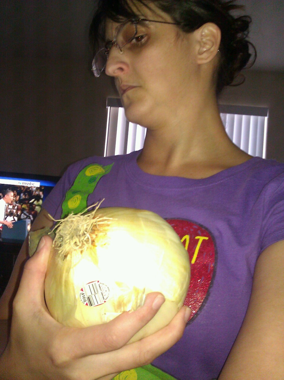 This onion is huge!