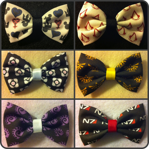 Nerd alert! Nerd alert! Awesome gamer hair bows!  Available here: http://www.etsy.com/shop/crashedhope