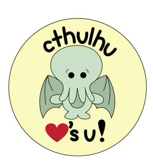 my new cthulhu button design! <3