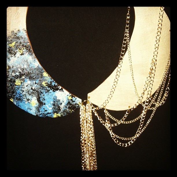 New collar. #beatniq #peterpan #collar #chain #etsy #boho #hippie  (Taken with Instagram)