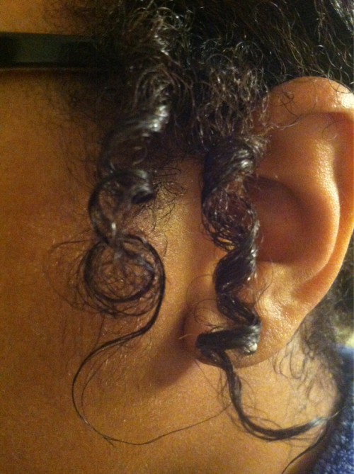 I suck at count downs, ha. But, here is a pic of the two little curls by my ears. SOO EXCITED!(: