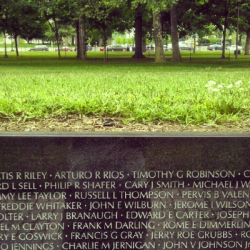 vietnam veteran memorial wall. #dc #summer2012  (Taken with Instagram)