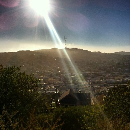 west (Taken with Instagram at Bernal Heights Park)