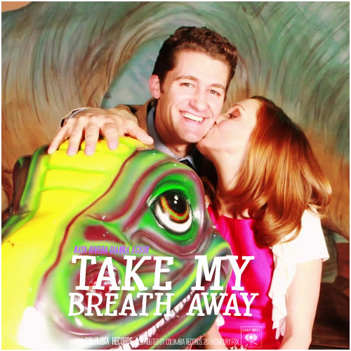 gleekingsongalbums:  3x19 Prom-asaurus | Take My Breath Away Alternative Cover Wemma Prom Photo