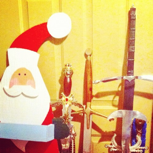 Santa's sword collection #basementfinds (Taken with Instagram)