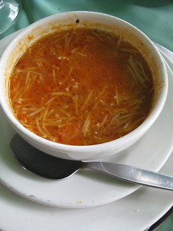 mexicanfoodporn:  ALERT: HARDCORE MEXICANFOODPORN!!!! Sopa de Fideo…… ésto en un día de frío o cuando estás enfermo… o cualquier pinche momento! Mexican Noodle Soup (chicken-tomato broth), perfect for a day where you are under the weather, or its cold… or any fucking moment really. Photo: mexandthecity: