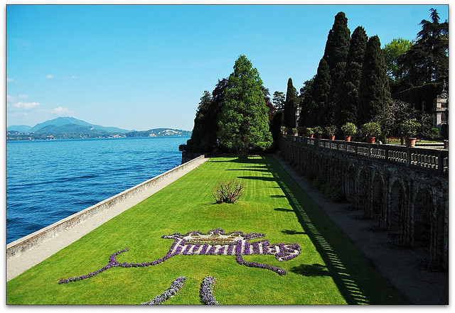 | ♕ |  Terrace garden of Isola Bella - Lake Maggiore, Italy  | by © Noelle Smith